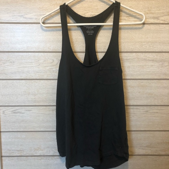 American Eagle Outfitters Tops - AE Charcoal Gray Tank Top ☀️